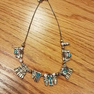 J. CREW BIB statement necklace crystal beaded EUC